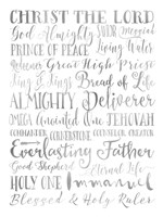 Silver Names of God Fine Art Print