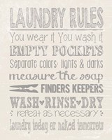Laundry Rules on Whiate Fine Art Print