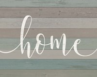 Rustic Home Script Framed Print