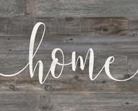 Rustic Home Script Fine Art Print