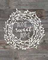 Rustic Home Sweet Home Fine Art Print