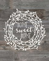 Rustic Home Sweet Home Framed Print