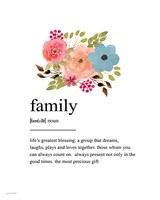 Family Definition Fine Art Print
