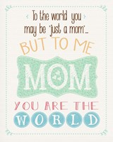 The World Mom Fine Art Print