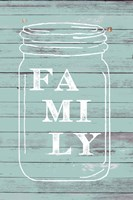 Family Mason Jar Fine Art Print