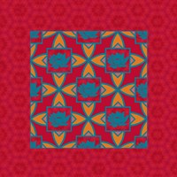 Lotus Tile Colored II Fine Art Print