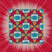 Lotus Tile Colored Fine Art Print