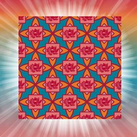 Lotus Tile Color I Fine Art Print