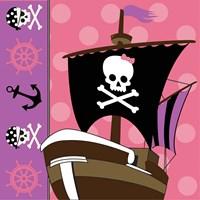 Ahoy Pirate Girl V Framed Print