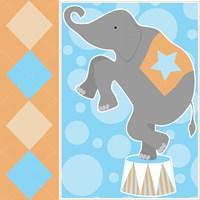 Baby Big Top IX Blue Fine Art Print