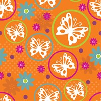 Butterflies and Blooms Lively V Fine Art Print