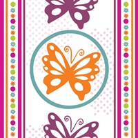 Butterflies and Blooms Lively IX Fine Art Print