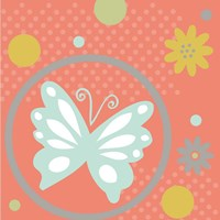 Butterflies and Blooms Tranquil VII Framed Print