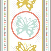Butterflies and Blooms Tranquil IX Fine Art Print