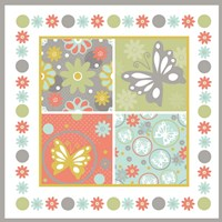 Butterflies and Blooms Tranquil X Fine Art Print