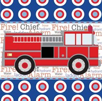 Fire Emergency X Fine Art Print