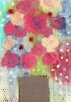Bright Floral in Vase Fine Art Print