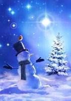 Star Bright Snowman Fine Art Print