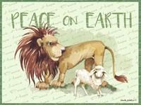 Lion and Lamb Cartoon Fine Art Print