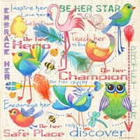 Lil Bird Sampler Fine Art Print