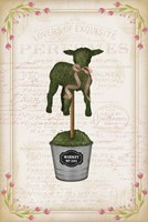Topiary Lamb Fine Art Print