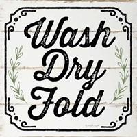 Wash, Dry, Fold, II Fine Art Print