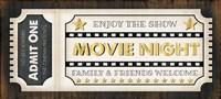 Movie Ticket Fine Art Print