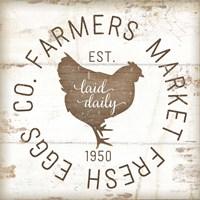 Farmer Market Eggs II Framed Print