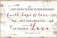 1 Corinthians 13:13 Fine Art Print