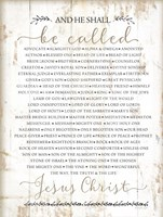 Names of Christ Fine Art Print