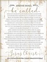 Names of Christ Fine Art Print