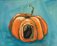 Pumpkin & Crow Fine Art Print