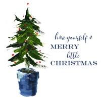 Merry Little Christmas Tree Fine Art Print