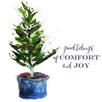 Comfort, Joy Little Christmas Tree Fine Art Print