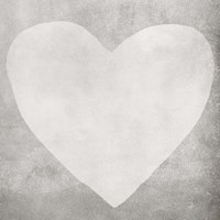 Dark Grey Heart Fine Art Print