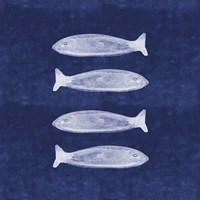 Indigo Fish II Fine Art Print