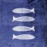 Indigo Fish III Fine Art Print