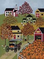 The Pumpkin Barn Fine Art Print