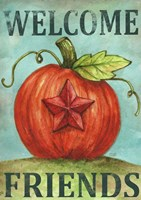 Pumpkin Star Welcome Autumn 2 Fine Art Print