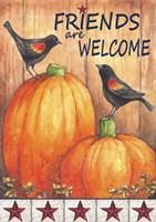 Pumpkin Blackbird Friends Welcome Fine Art Print