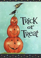 Pumpkin Stack Trick Or Treat New Fine Art Print