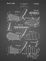 Golf Club Patent - Black Grid Fine Art Print