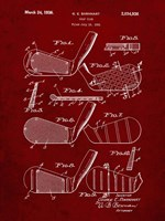 Golf Club Patent - Burgundy Fine Art Print