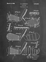 Golf Club Patent - Chalkboard Fine Art Print