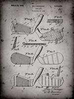 Golf Club Patent - Faded Grey Fine Art Print