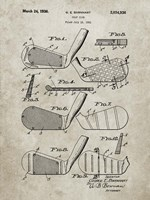 Golf Club Patent - Sandstone Fine Art Print