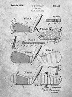 Golf Club Patent - Slate Fine Art Print