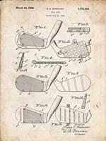Golf Club Patent - Vintage Parchment Fine Art Print