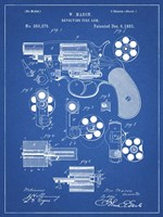 Revolving Fire Arm Patent - Blueprint Fine Art Print