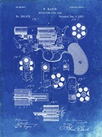 Revolving Fire Arm Patent - Faded Blueprint Fine Art Print